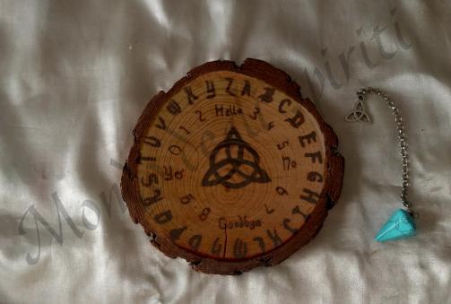 mini tavola ouija legno naturale pendolo pietra naturale mondo degli spiriti