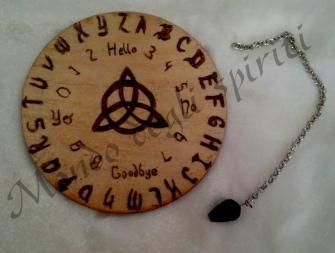 tavola ouija legno mini pendolo mondo degli spiriti