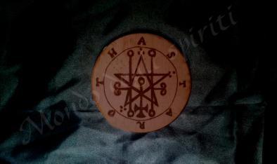sigillo altare inciso legno astaroth mondo degli spiriti